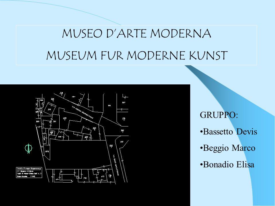 Il lotto messo a disposizione per la realizzazione del nuovo Museo darte Moderna di Bolzano è sito allincrocio tra via Dante e via Rosmini dove oggi sorge un parcheggio auto.