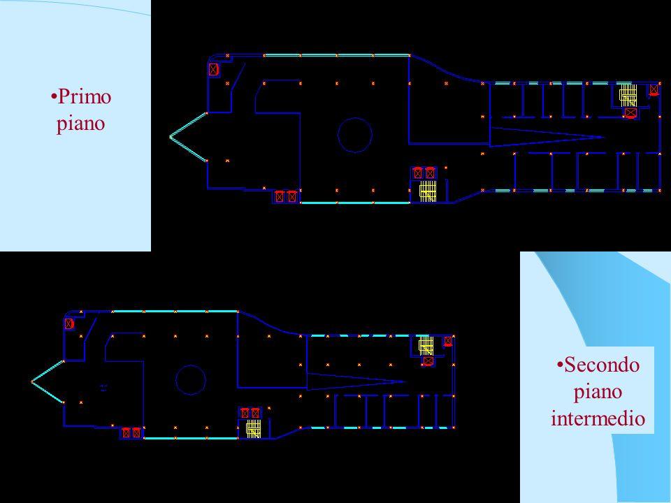 Secondo piano Terzo piano Biblioteca +18m Ristorante +18m Terrazza +15m