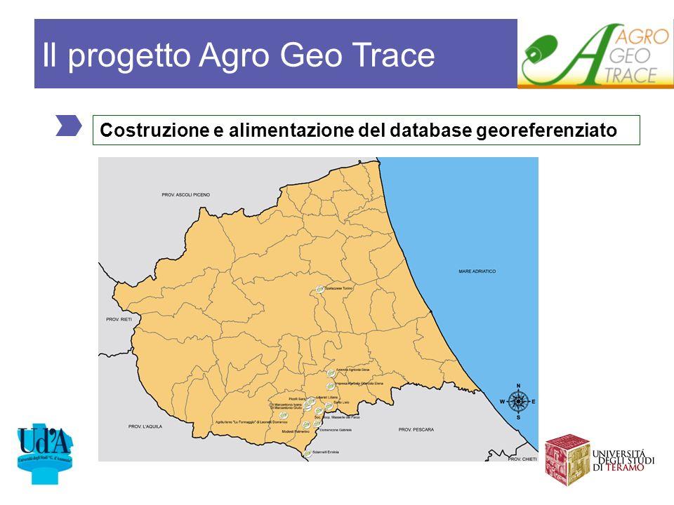 Costruzione e alimentazione del database georeferenziato Il progetto Agro Geo Trace
