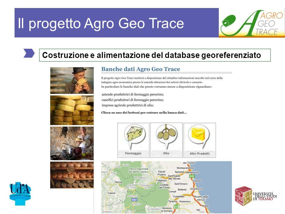 Costruzione e alimentazione del database georeferenziato