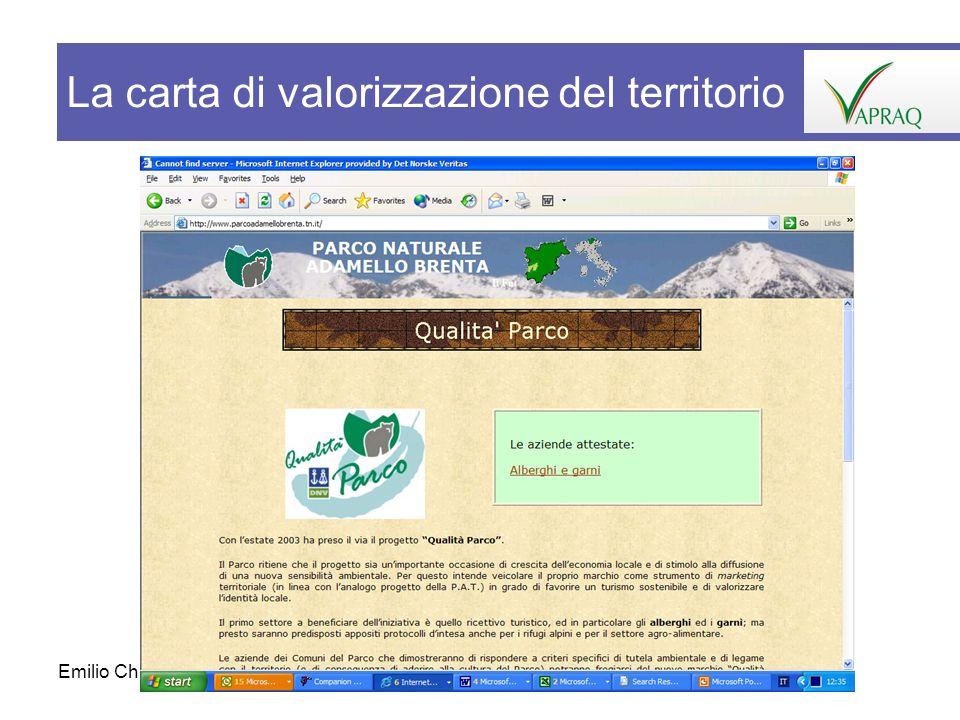 Emilio Chiodo39 La carta di valorizzazione del territorio