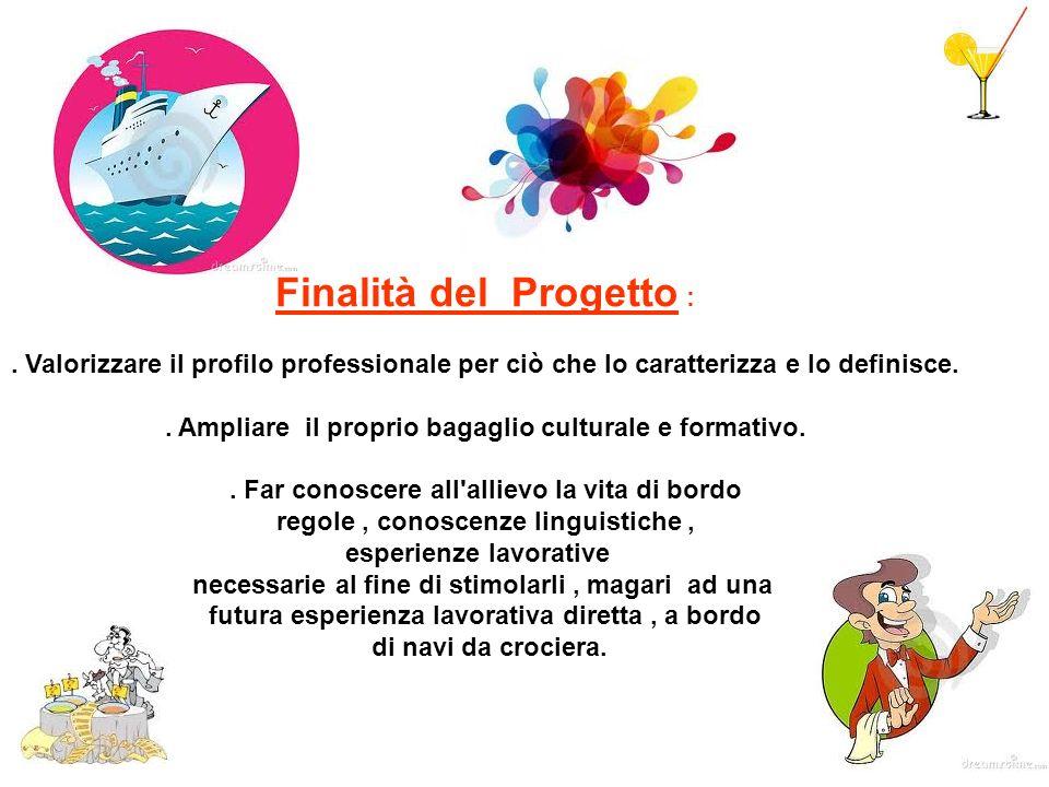Finalità del Progetto :. Valorizzare il profilo professionale per ciò che lo caratterizza e lo definisce.. Ampliare il proprio bagaglio culturale e fo