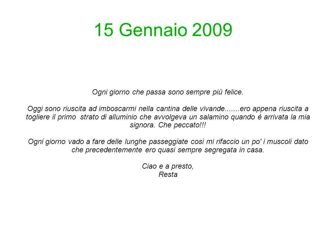 19 Gennaio 2009 Ciao, rieccomi.....questo fine settimana sono stata molto impegnata.