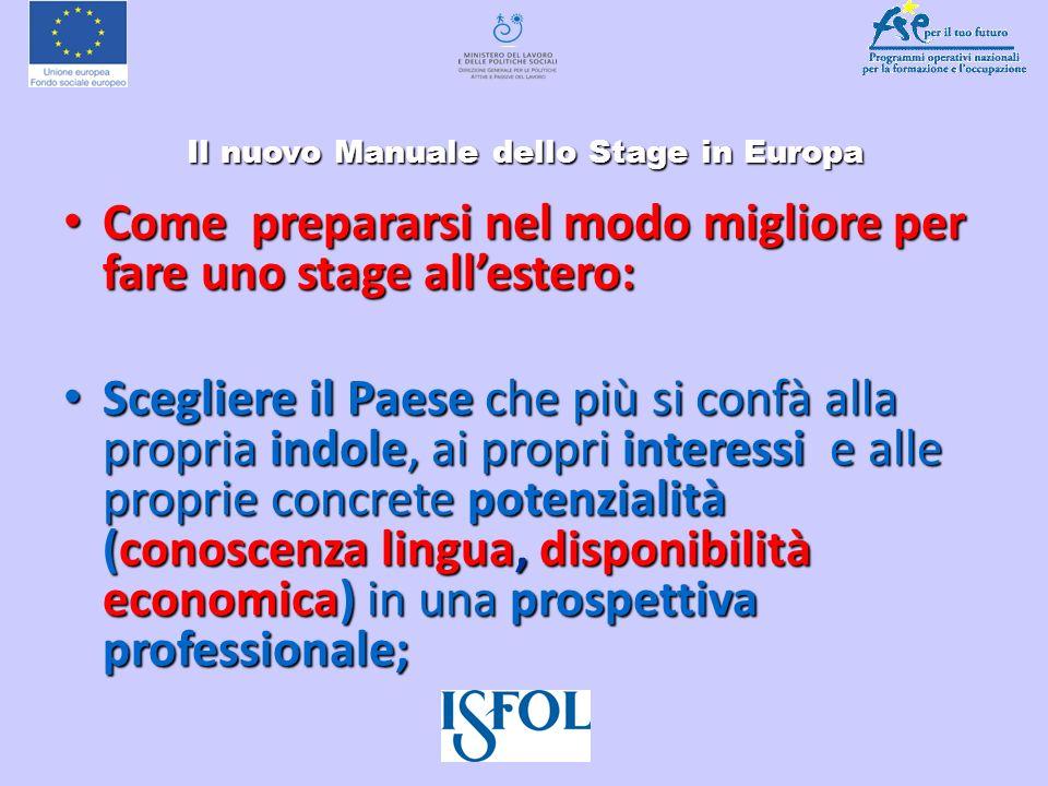 Il nuovo Manuale dello Stage in Europa Il nuovo Manuale dello Stage in Europa Scheda Paese In ciascuna Scheda Paese è possibile trovare: I settori più dinamici I settori più dinamici Lo stage in....