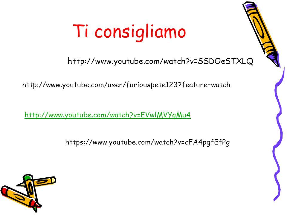 Ti consigliamo http://www.youtube.com/watch?v=SSDOeSTXLQ http://www.youtube.com/watch?v=EVwlMVYqMu4 http://www.youtube.com/user/furiouspete123?feature