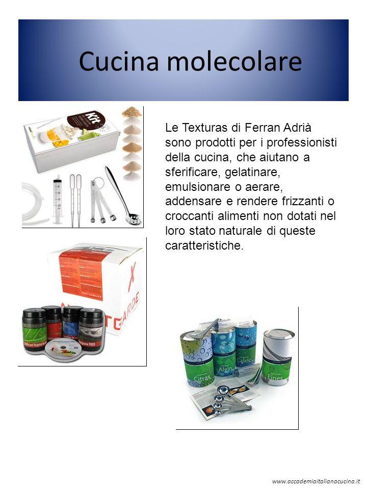 Cucina molecolare Le Texturas di Ferran Adrià sono prodotti per i professionisti della cucina, che aiutano a sferificare, gelatinare, emulsionare o ae