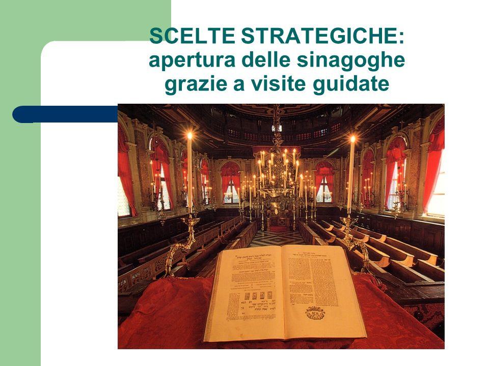 SCELTE STRATEGICHE: apertura delle sinagoghe grazie a visite guidate
