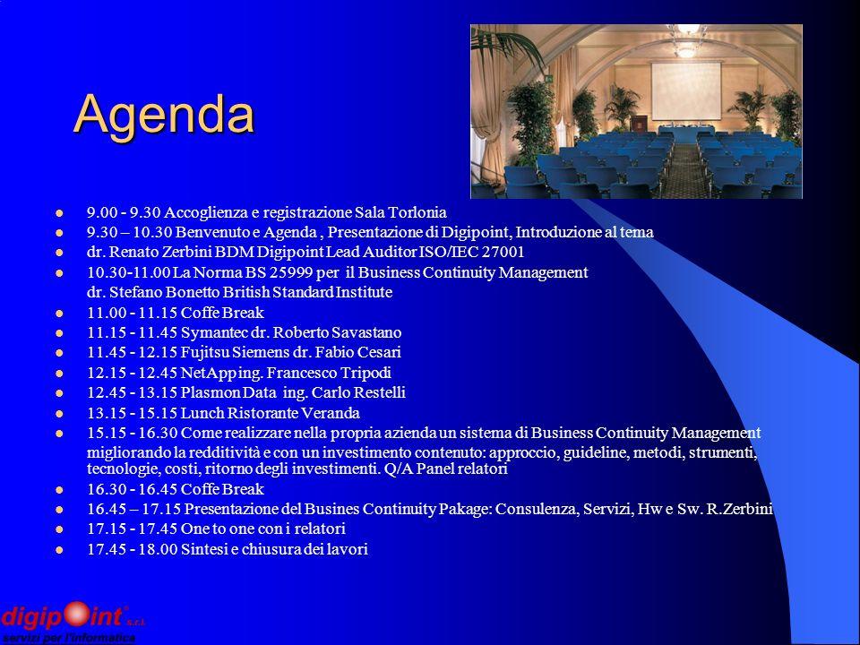 Agenda 9.00 - 9.30 Accoglienza e registrazione Sala Torlonia 9.30 – 10.30 Benvenuto e Agenda, Presentazione di Digipoint, Introduzione al tema dr.