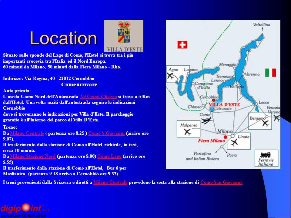 Location Location Come arrivare Auto privata: L uscita Como Nord dell Autostrada A9 Como-Chiasso si trova a 5 Km dall Hotel.