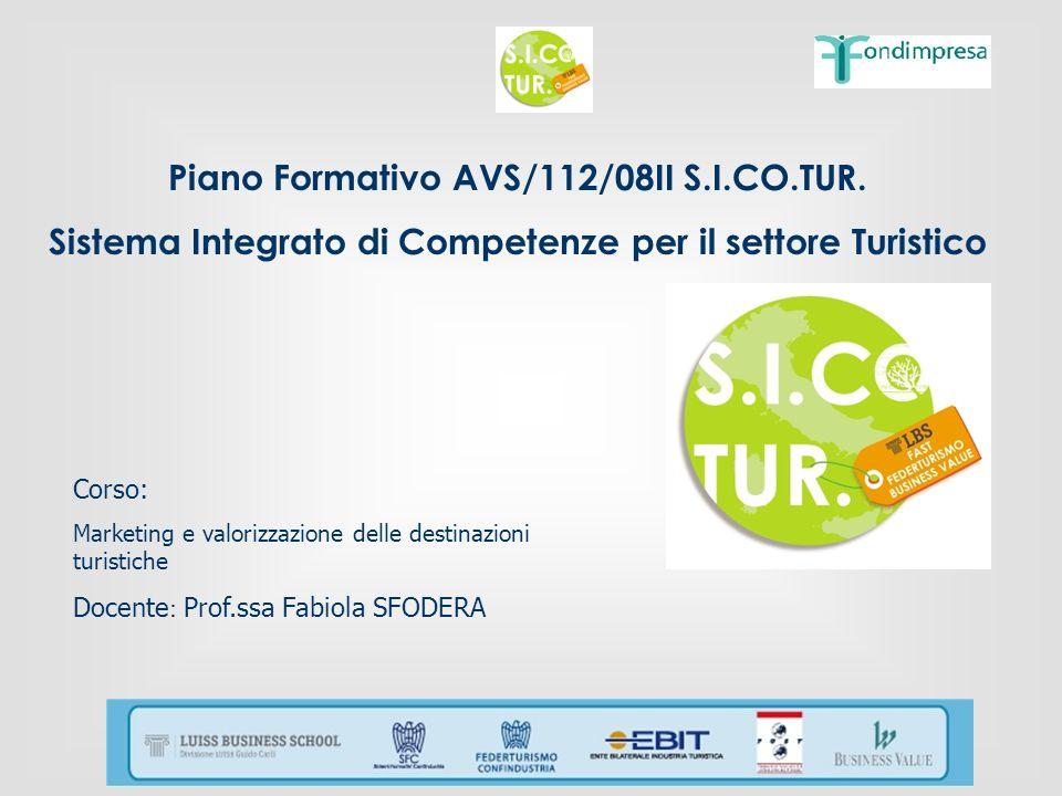 Piano Formativo AVS/112/08II S.I.CO.TUR.