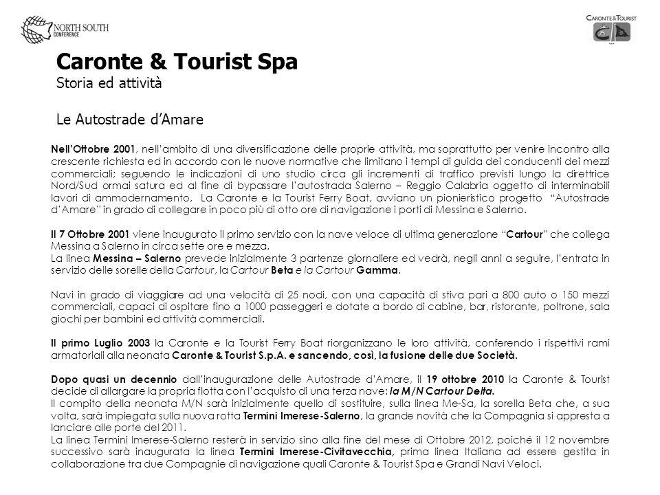 Caronte & Tourist Spa Storia ed attività Le Autostrade dAmare NellOttobre 2001, nellambito di una diversificazione delle proprie attività, ma soprattu