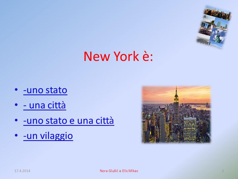 NEW YORK Quiz 17.4.20141Nora Glušić e Elis Mikac
