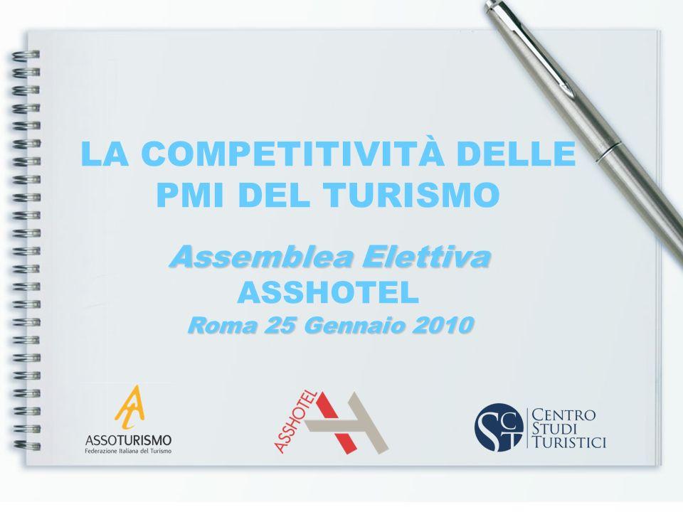 LA COMPETITIVITÀ DELLE PMI DEL TURISMO Assemblea Elettiva ASSHOTEL Roma 25 Gennaio 2010