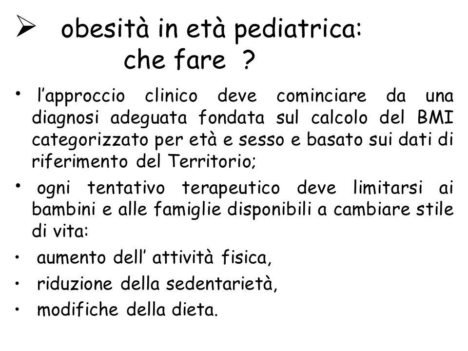 obesità in età pediatrica: che fare .