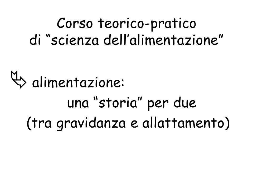 Corso teorico-pratico di scienza dellalimentazione alimentazione: una storia per due (tra gravidanza e allattamento)