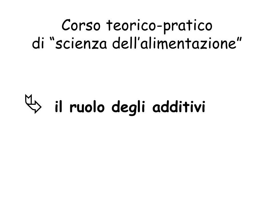 Corso teorico-pratico di scienza dellalimentazione il ruolo degli additivi