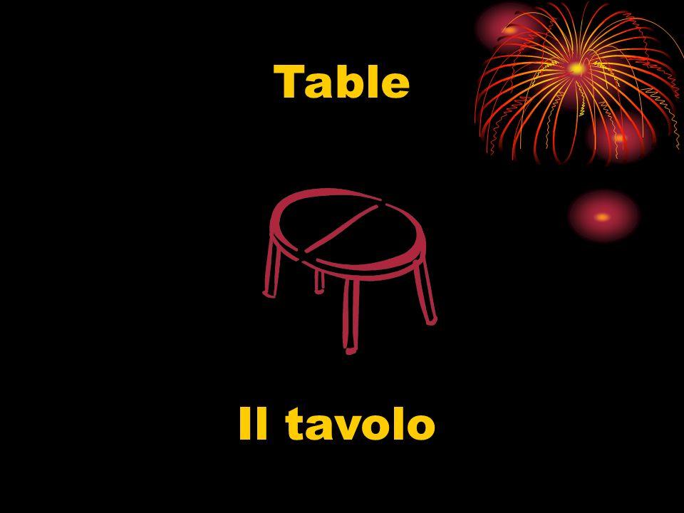 Table Il tavolo