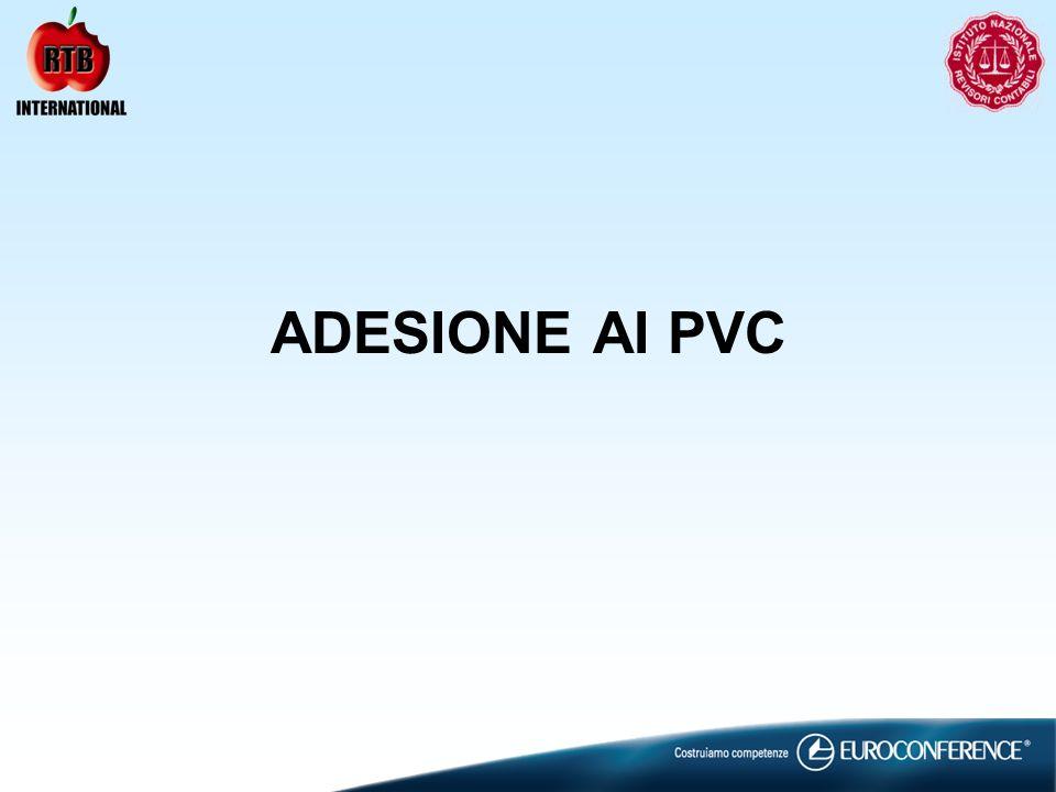 ADESIONE AI PVC