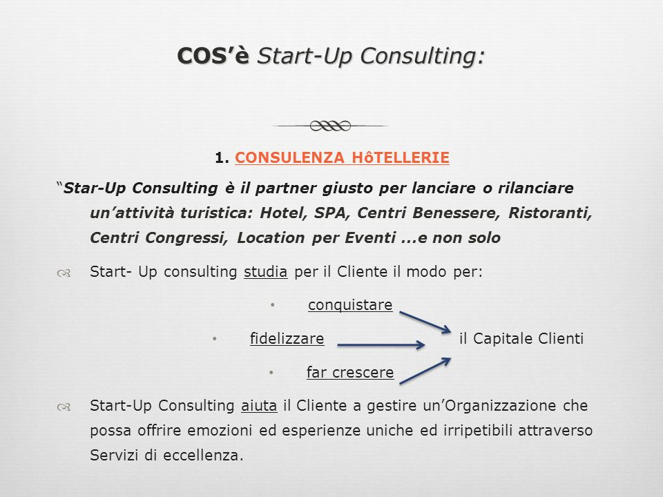 COSè Start-Up Consulting: 2.