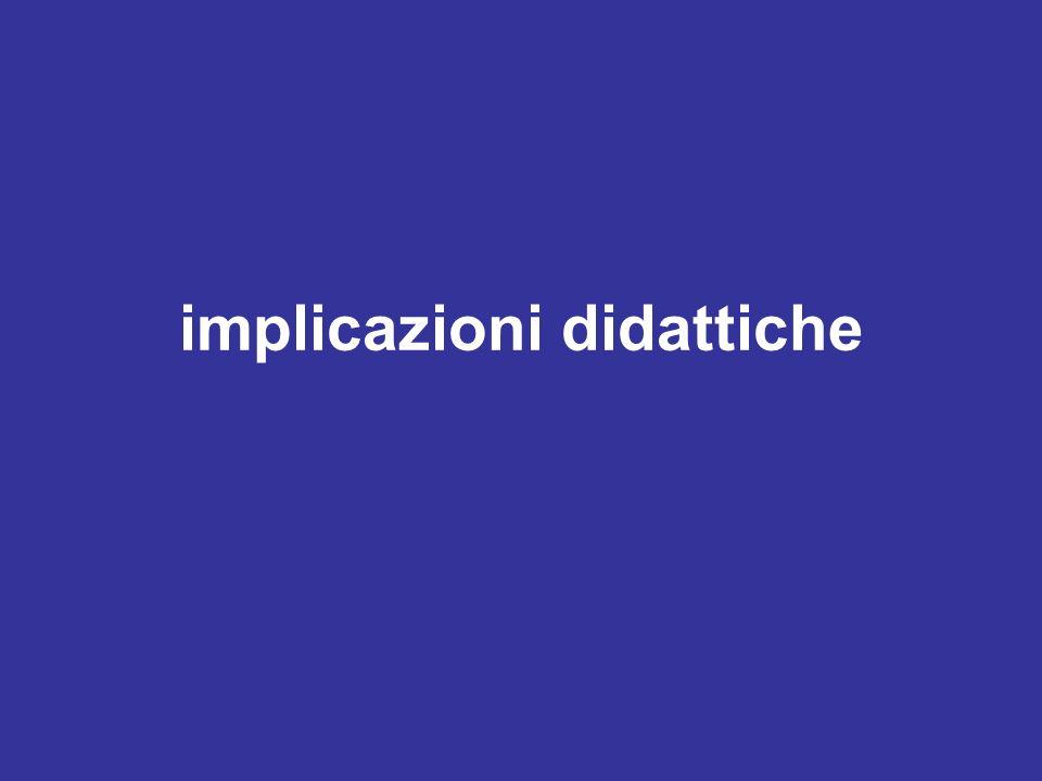 implicazioni didattiche