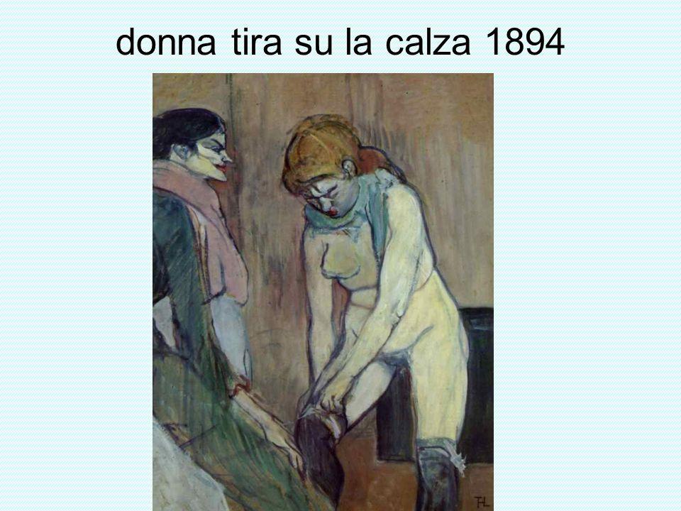 donna tira su la calza 1894