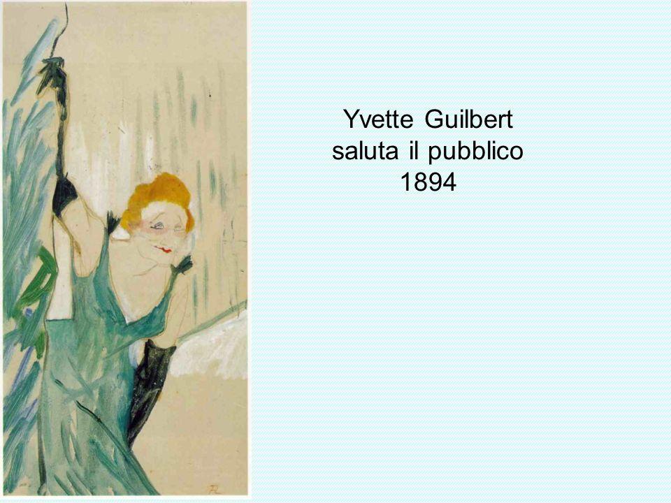 Yvette Guilbert saluta il pubblico 1894