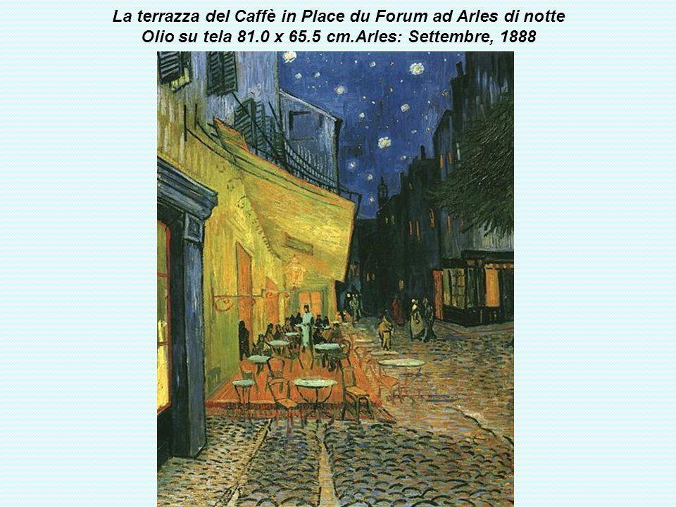 La terrazza del Caffè in Place du Forum ad Arles di notte Olio su tela 81.0 x 65.5 cm.Arles: Settembre, 1888