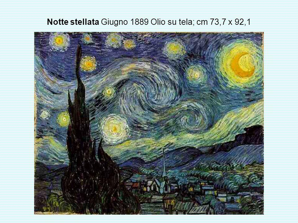 Notte stellata Giugno 1889 Olio su tela; cm 73,7 x 92,1