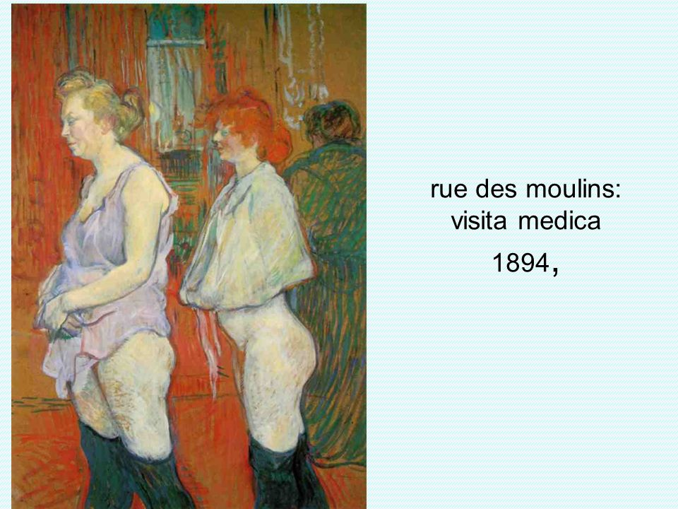 rue des moulins: visita medica 1894,