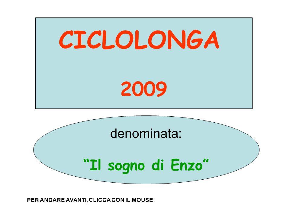 PROPOSTA PER LA CICLOLONGA 2009 denominata: IL SOGNO DI ENZO CICLOLONGA 2009 denominata: Il sogno di Enzo PER ANDARE AVANTI, CLICCA CON IL MOUSE