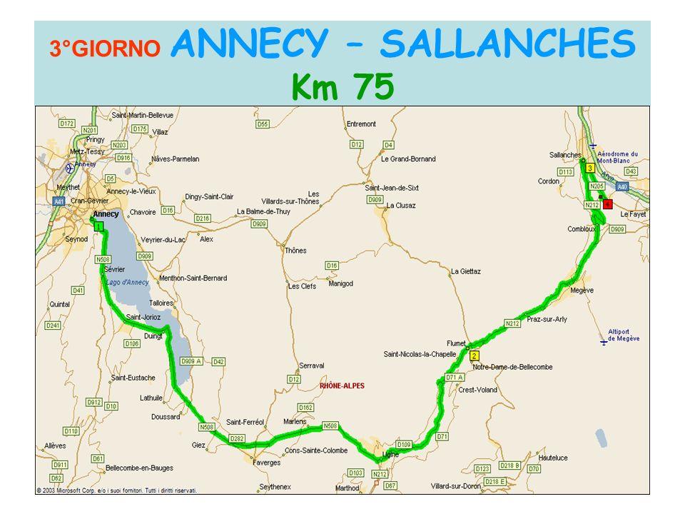 3°GIORNO ANNECY – SALLANCHES Km 75 Col de la Colombiere