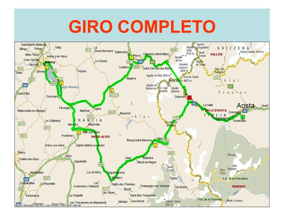 GIRO COMPLETO Aosta