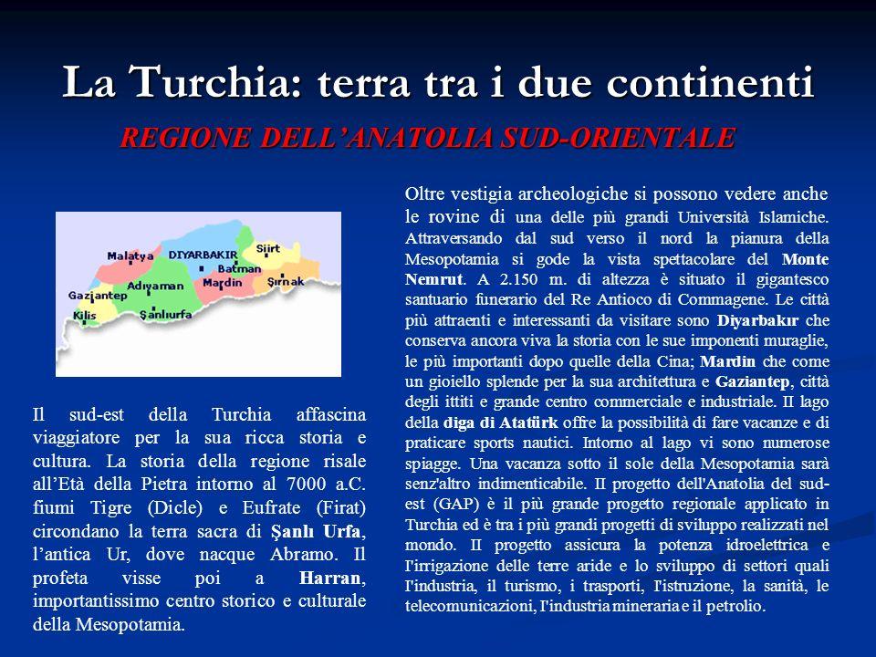La Turchia: terra tra i due continenti REGIONE DELLANATOLIA SUD-ORIENTALE Oltre vestigia archeologiche si possono vedere anche le rovine di una delle