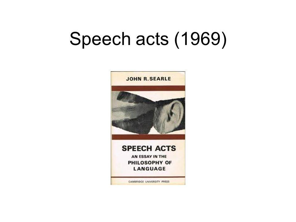Speech acts (1969)