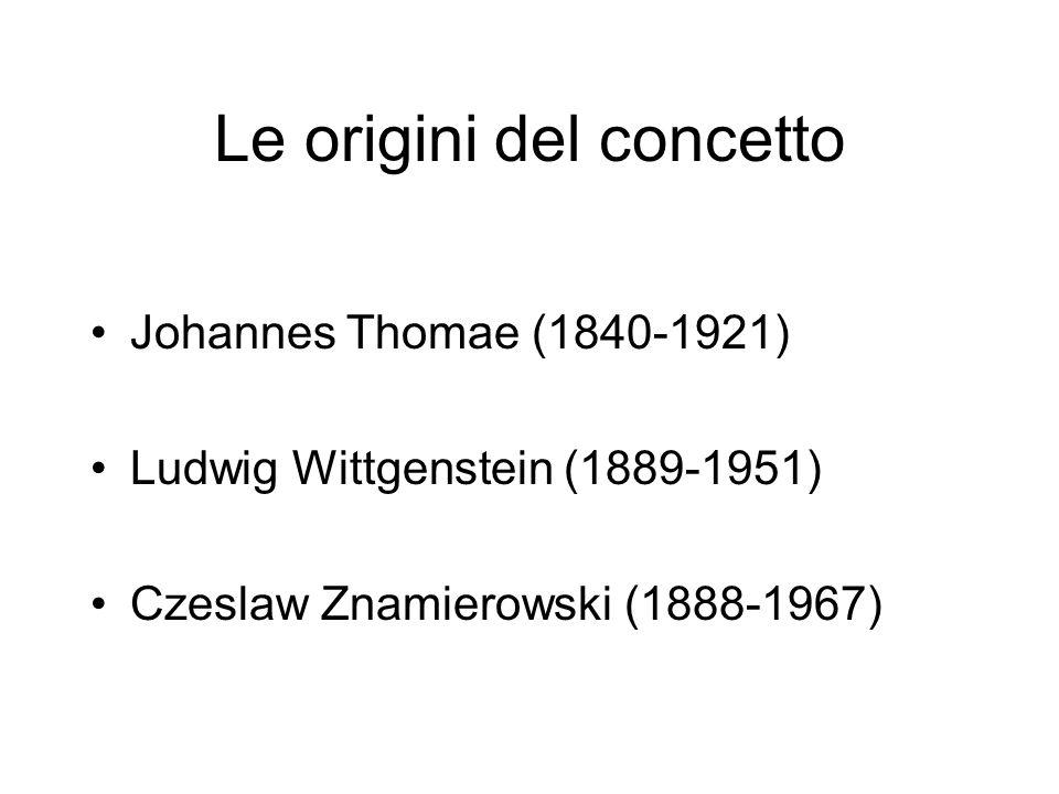 Le origini del concetto Johannes Thomae (1840-1921) Ludwig Wittgenstein (1889-1951) Czeslaw Znamierowski (1888-1967)