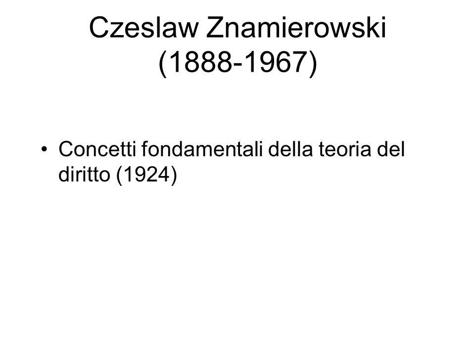 Czeslaw Znamierowski (1888-1967) Concetti fondamentali della teoria del diritto (1924)