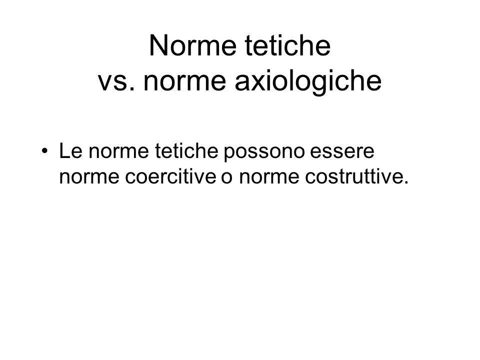 Norme tetiche vs.