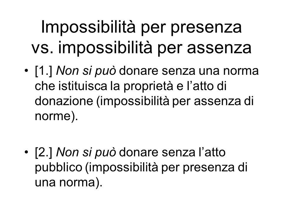 Impossibilità per presenza vs.