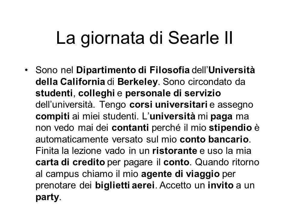 La giornata di Searle II Sono nel Dipartimento di Filosofia dellUniversità della California di Berkeley.