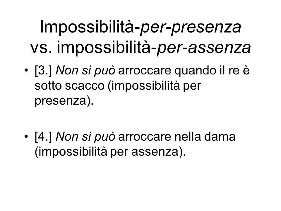 Impossibilità-per-presenza vs.