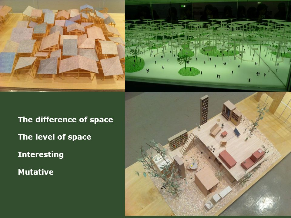 The difference of space The level of space Interesting Mutative