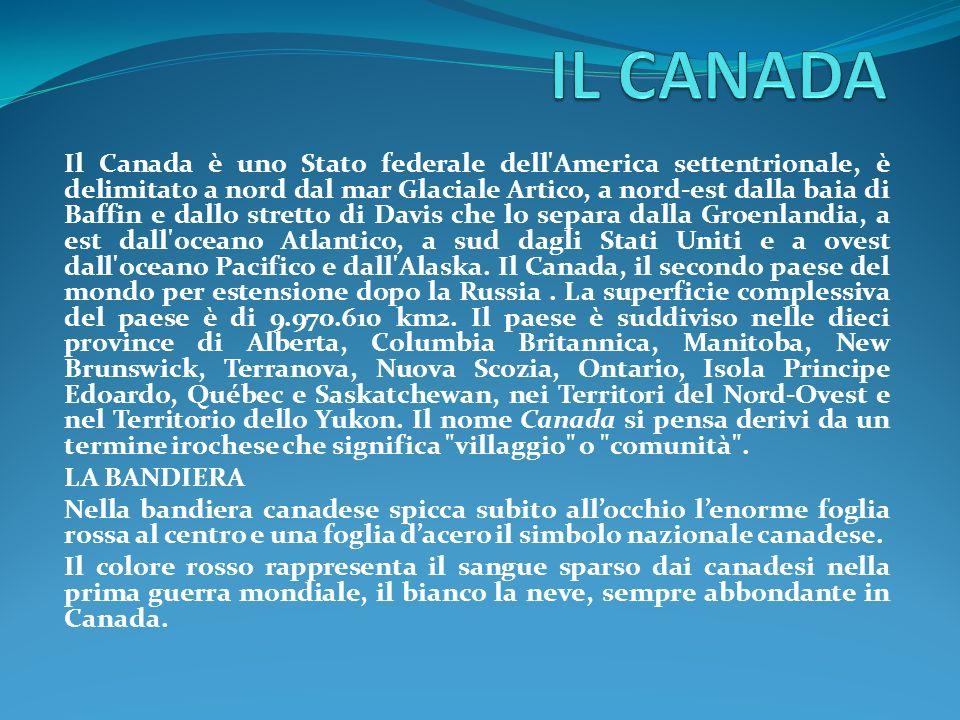 IL TERRITORIO Il Canada possiede più laghi e acque interne di qualsiasi altro paese al mondo.
