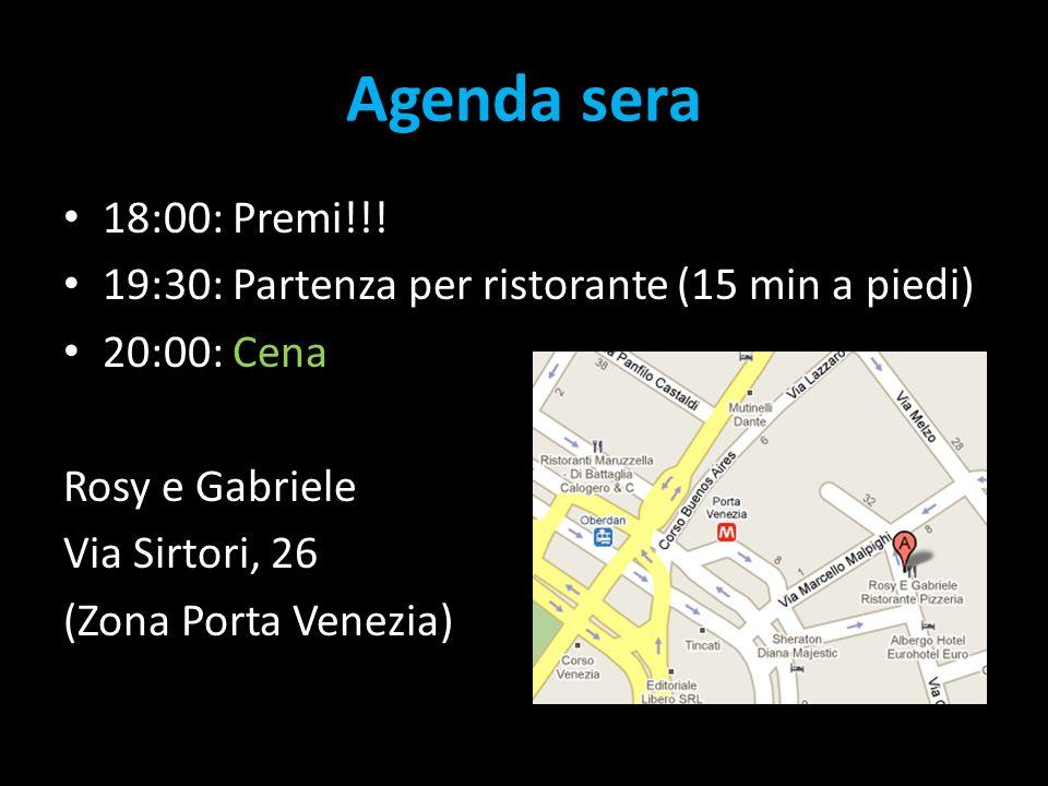 Agenda sera 18:00: Premi!!.