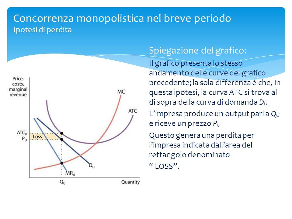Spiegazione del grafico: Il grafico presenta lo stesso andamento delle curve del grafico precedente; la sola differenza è che, in questa ipotesi, la c