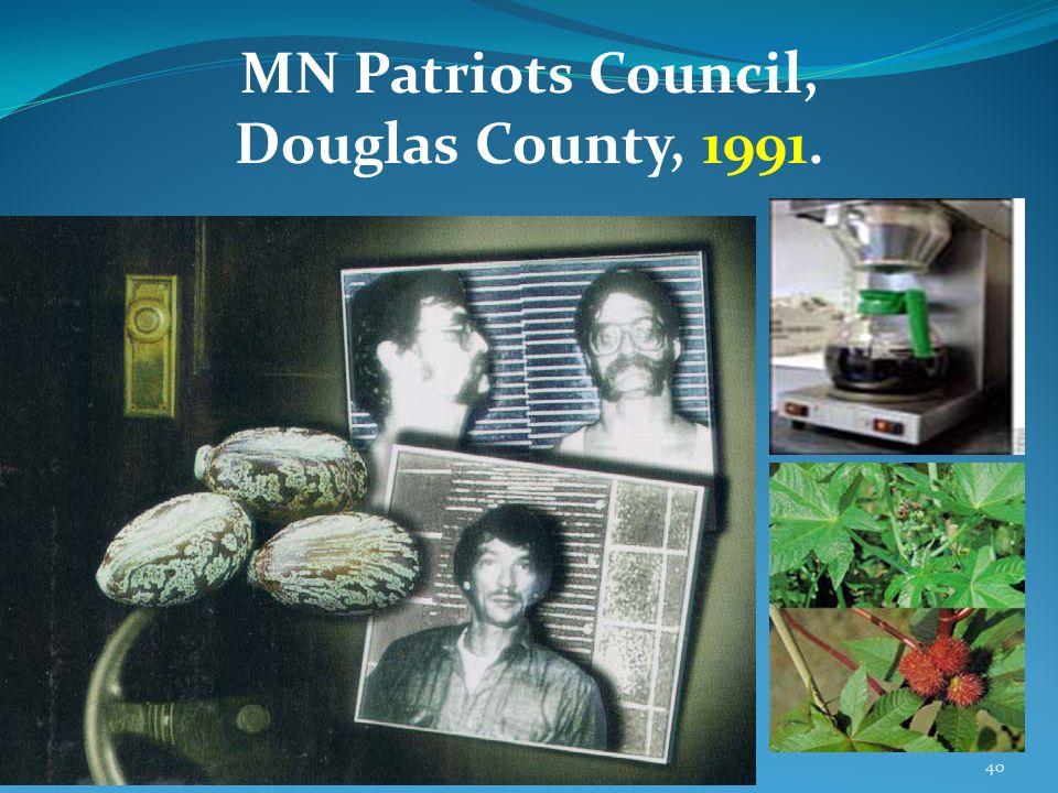 40 MN Patriots Council, Douglas County, 1991.