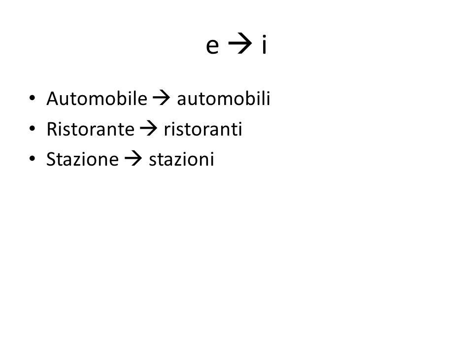 e i Automobile automobili Ristorante ristoranti Stazione stazioni