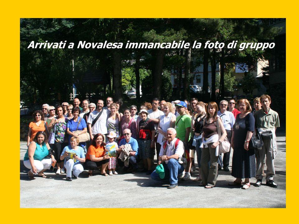 Arrivati a Novalesa immancabile la foto di gruppo