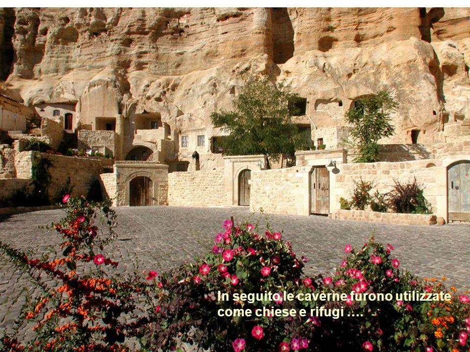 Nel V °e VI° secolo una comunità di circa 1000 cristiani viveva quì scavando le rocce.