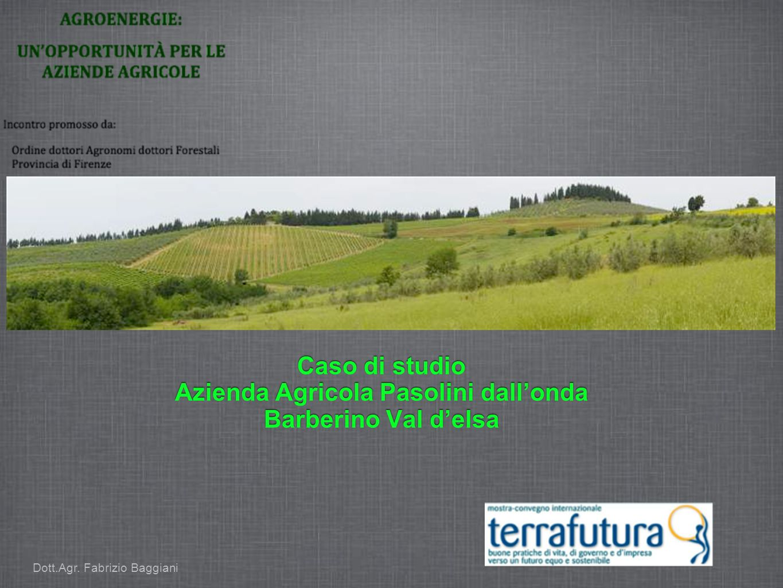 Caso di studio Azienda Agricola Pasolini dallonda Barberino Val delsa Dott.Agr. Fabrizio Baggiani