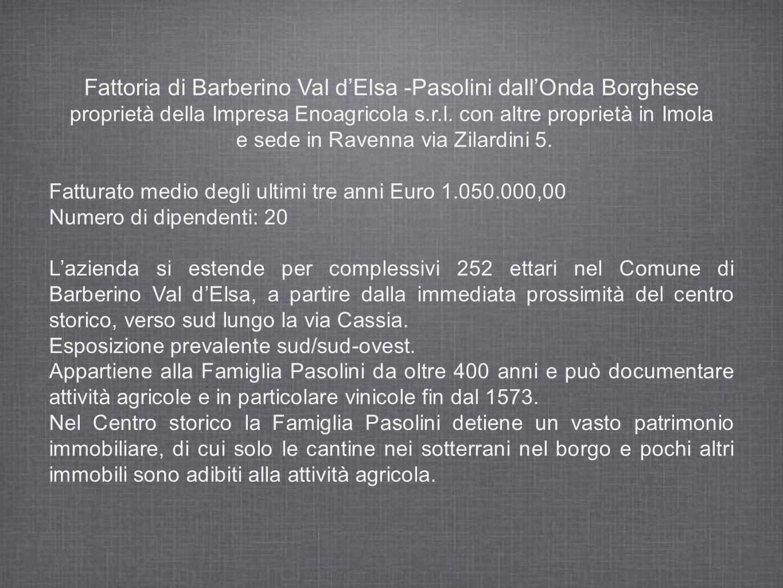 Fattoria di Barberino Val dElsa -Pasolini dallOnda Borghese proprietà della Impresa Enoagricola s.r.l.
